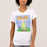 chica sonriente camiseta