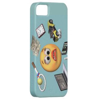 """Chica """"sonriente"""" que hace juegos malabares iPhone 5 carcasa"""