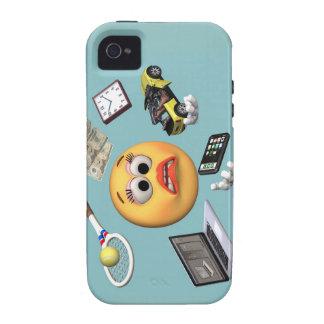 """Chica """"sonriente"""" que hace juegos malabares Case-Mate iPhone 4 funda"""