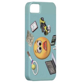 """Chica """"sonriente"""" que hace juegos malabares iPhone 5 funda"""