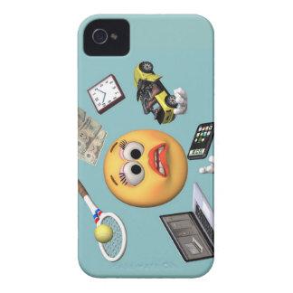"""Chica """"sonriente"""" que hace juegos malabares iPhone 4 Case-Mate protectores"""