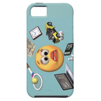 """Chica """"sonriente"""" que hace juegos malabares iPhone 5 coberturas"""