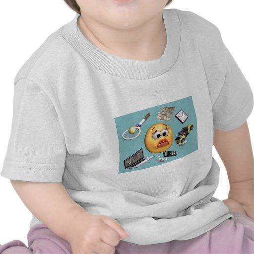 """Chica """"sonriente"""" que hace juegos malabares camisetas"""