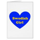Chica sueco felicitación