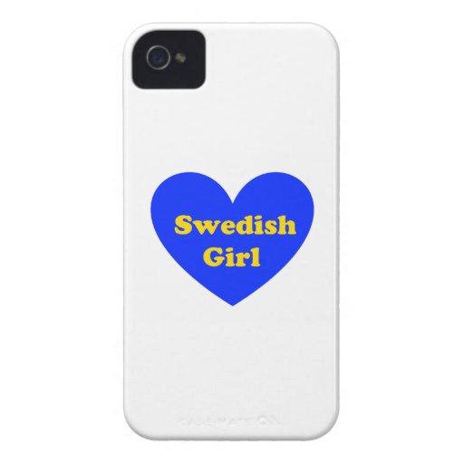 Chica sueco iPhone 4 Case-Mate cárcasas