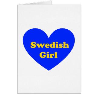 Chica sueco tarjeta de felicitación