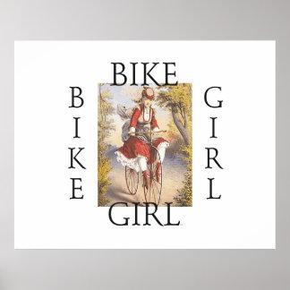 Chica SUPERIOR de la bici Impresiones