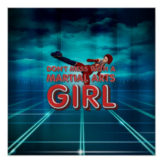 Chica SUPERIOR de los artes marciales Perfect Poster