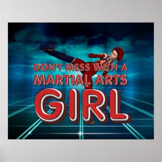 Chica SUPERIOR de los artes marciales Póster