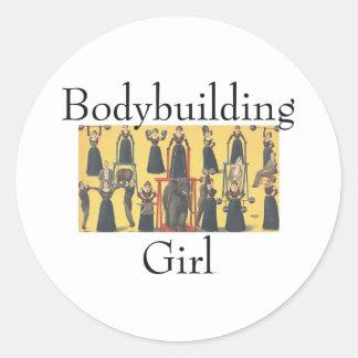 Chica SUPERIOR del Bodybuilding Etiquetas