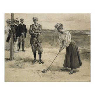 Chica SUPERIOR del golf Impresiones