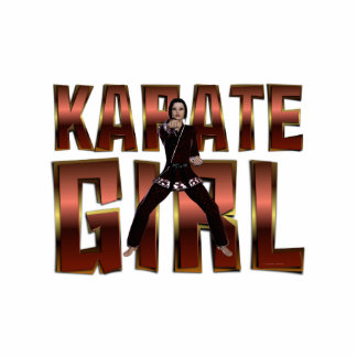 Chica SUPERIOR del karate Escultura Fotográfica
