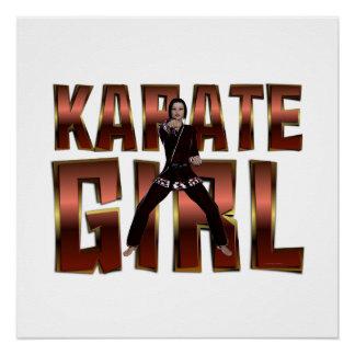 Chica SUPERIOR del karate Perfect Poster