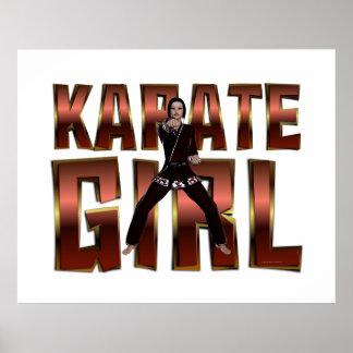 Chica SUPERIOR del karate Póster