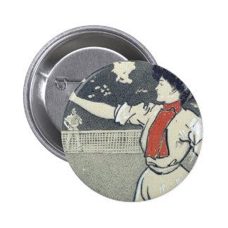 Chica SUPERIOR del tenis Pin Redondo 5 Cm