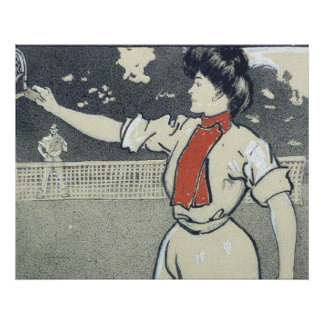 Chica SUPERIOR del tenis Póster