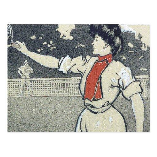 Chica SUPERIOR del tenis Postales