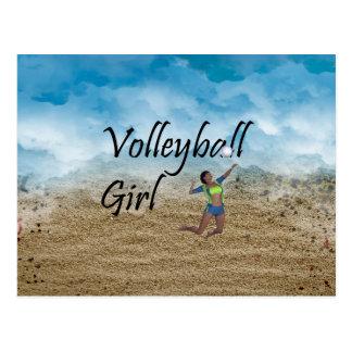 Chica SUPERIOR del voleibol Postales