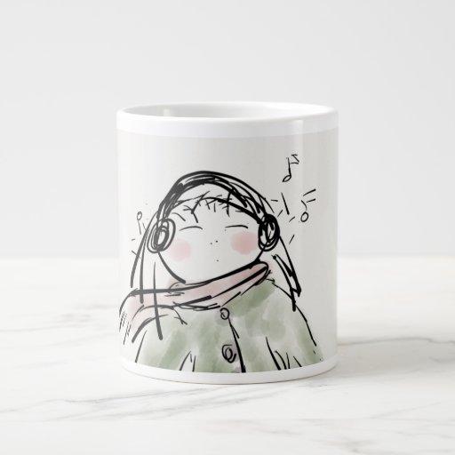 Chica Taza-Enfriado café enorme Tazas Extra Grande