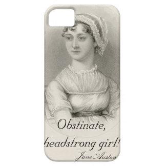 Chica testarudo obstinado iPhone 5 carcasas