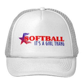Chica Thang del softball… Gorras De Camionero
