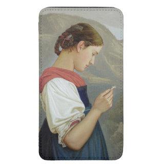 Chica tirolés que comtempla un crucifijo, 1865 funda acolchada para galaxy s5