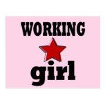 Chica trabajadora postal