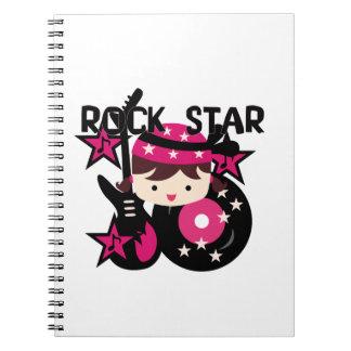 Chica trigueno de la estrella del rock libretas