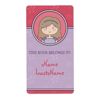 Chica trigueno -- Este libro pertenece a… Etiqueta De Envío