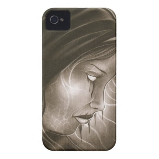 chica triste Case-Mate iPhone 4 protector