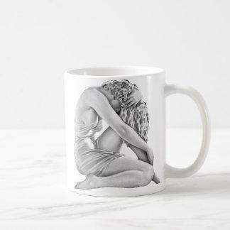 Chica triste Pin-Para arriba del vintage del Taza De Café