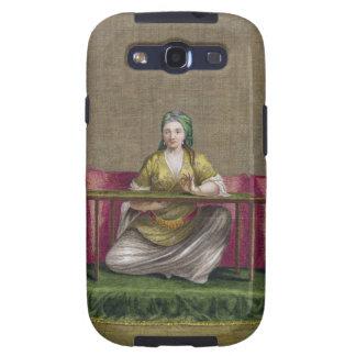 Chica turco, bordando, siglo XVIII (engravin Galaxy S3 Fundas
