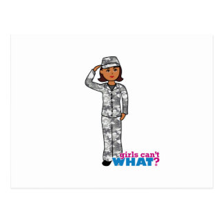 Chica urbano del ejército tarjeta postal