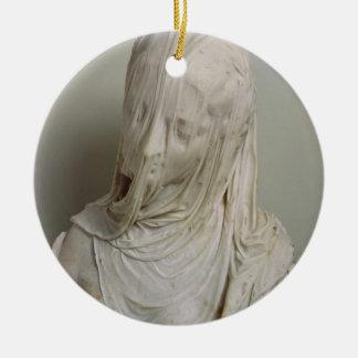 Chica velado (mármol) adorno redondo de cerámica