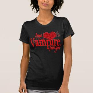 Chica verdadero de la fan del vampiro t-shirt