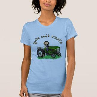 Chica verde claro del granjero camisas