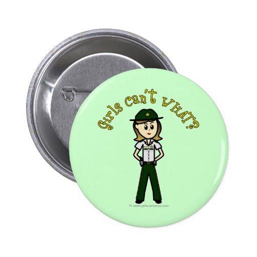Chica verde claro del sheriff pins