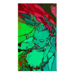 Chica verde de la pintada tarjeta personal