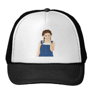 Chica vivaz gorras