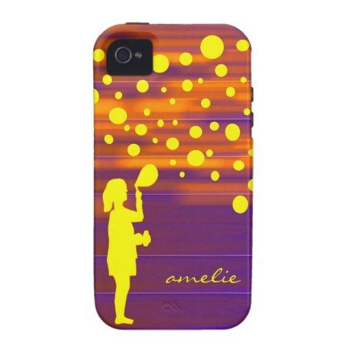 chica y burbujas iPhone 4 funda