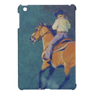 Chica y caballo del rodeo iPad mini cárcasas