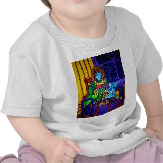 Chica y conejo por Piliero Camiseta