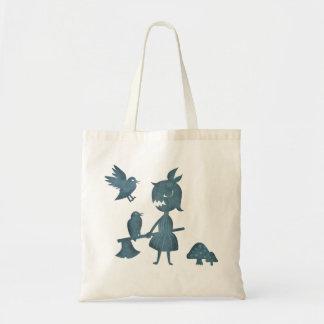 Chica y cuervos oscuros del hacha de los cuentos bolsa