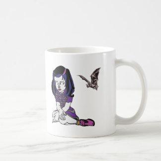 Chica y palo del gótico tazas