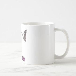 Chica y palo del gótico taza de café