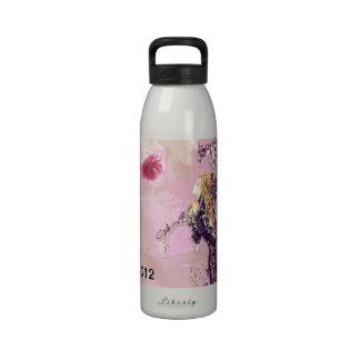 Chica y parasol Waterbottle del Victorian Botella De Beber