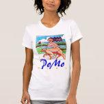 Chica y perro de PoMo Camisetas