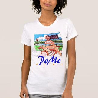 Chica y perro de PoMo T Shirts