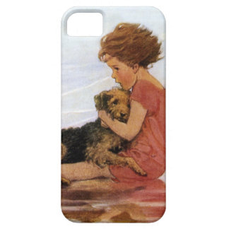 Chica y perro del vintage de Jessie Willcox Smith iPhone 5 Carcasas