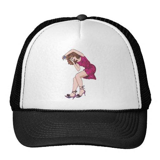 Chica y regalo divertidos gorras de camionero